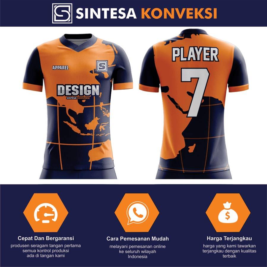 Kaos Futsal Dengan Desain Sendiri